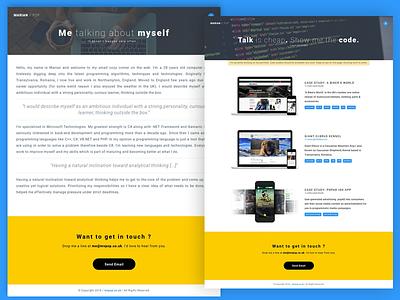 Portfolio / Personal Website coder developer website portfolio