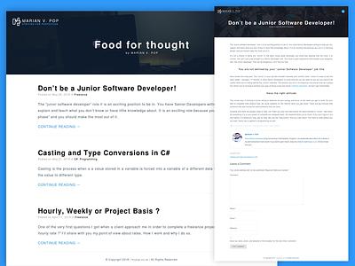 Personal Blog / blog.mvpop.co.uk software developer website design blog