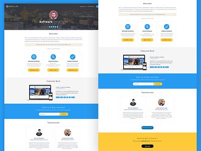 Home Page Redesign - Portfolio Website software developer programmer coder webdesign website portfolio