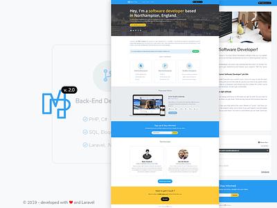 Personal Website / Portfolio laravel bootstrap website portfolio
