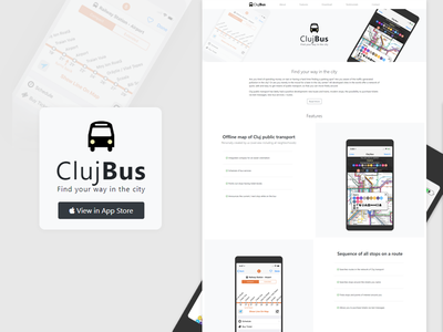 iOS Bus App - Landing Page responsive bootstrap landing page app ios