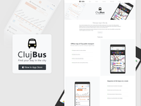 iOS Bus App - Landing Page