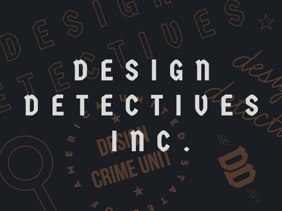 Design Detectives Inc. logo brand branding lockup search typography type inc detective design