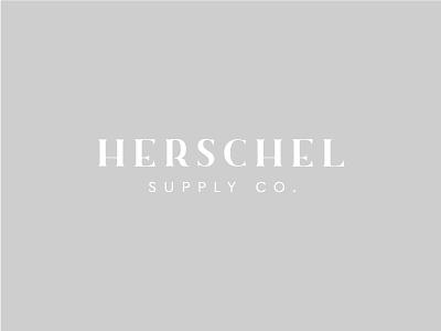 Herschel - Logo Exploration typography type logo rebrand branding co supply backpack bags herschel
