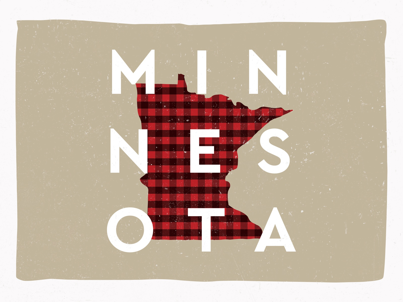 Minnesota Winter cozy winter type pattern plaid minnesota