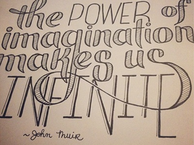 Muir Quote Handlettered