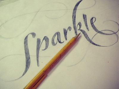 Sparkle Hand Lettering