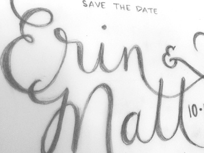 Save The Date Lettering Sketch