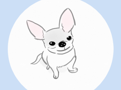 Chihuahua sitting illustration sketch drawing chihuahua dog lover dog puppy