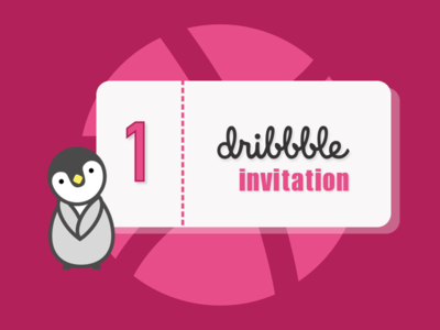 Invitation Giveaway penguin giveaway invite giveaway invite dribbble invitation
