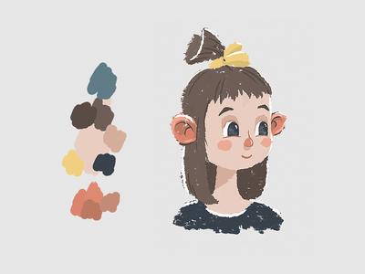 Character design. Kid girl