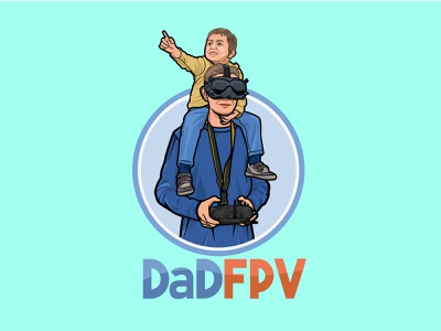 Dad FPV icon flat graphic design vector logo illustrator illustration design branding art