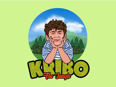 Kribo Jungle icon flat graphic design vector logo illustrator illustration design branding art