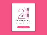 2 Dribbble Invites - Lets play