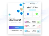 Crypto wallet UI + 2 Dribbble invites