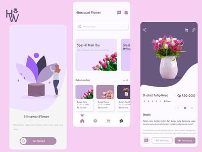 Himawari Flower Apps Design