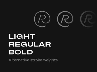 Alternative stroke weights for Rubber Icons minimal icons icon set icon system bold regular light dynamic stoke icons outline icons sketch design resoruces ui resources icon pack figma freebie