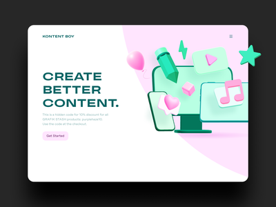 Boost your content with Glaze 3D icons ✨ 3d assets website content hero illustration uiux icon pack ui resources figma graphic design 3d