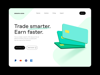 Digital trading website hero with 3D icons 3d illustration website hero 3d assets 3d pack 3d icons finance crypto trading hero image illustration design uiux sketch icon pack ui resources freebie figma