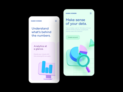 Data Analytics 3D Icons features hero section mobile web design 3d 3d icons illustration design icon set uiux sketch icon pack ui resources figma