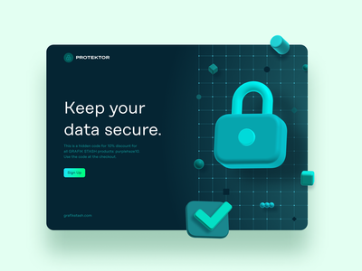 Data Privacy Website Hero Concept ui 3d icons 3d data privacy security hero section illustration design icon set uiux sketch icon pack freebie ui resources figma