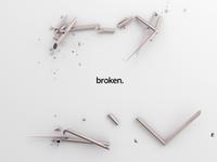 Broken square minimalist background minimal split disruption motion design 3d render gold broken shape square 3d animation