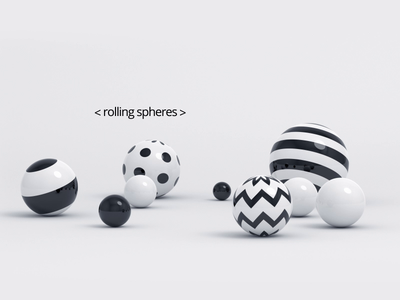Rolling spheres blender render minimal shape abstract motion graphic geometric loop motion design sphere animation 3d