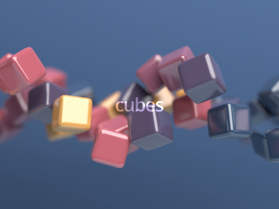 Endless motion creative seamless background abstract shape motion design endless loop geometric cube animation 3d render