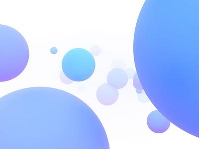 Flying spheres blender flying endless graphic motion design background light color sphere loop animation abstract render 3d