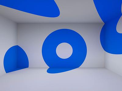 Endless motion circle blender shape background abstract color blue endless loop graphic motion design animation render 3d