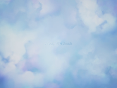 Through the clouds blender abstract endless loop motion graphic design background animation render 3d clouds heaven sky cloud