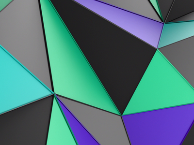 Abstract endless animation purple green colorful animation endless loop motion graphic triangulated triangle low poly polygonal shape render design background abstract 3d