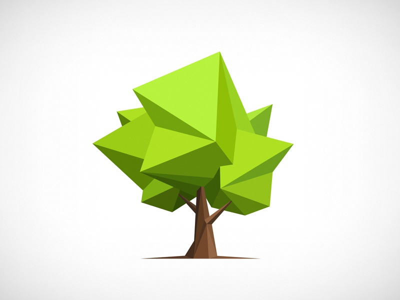 Polygonal Tree Illustration