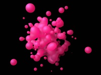 Pink fluid splash