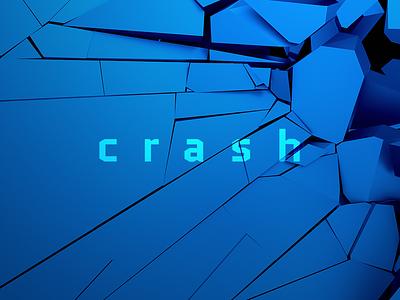 Crashed Surface design blast burst explosion broken destruction crash crack background wall render 3d