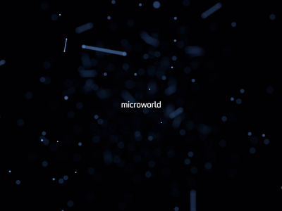 Microworld. Endless animation space motion graphic science motion design loop 3d render particle futuristic technology abstract background 3d animation