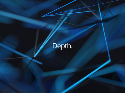 Depth 3d render futuristic loop wireframe depth of field graphic design blue motion design bokeh depth abstract background 3d animation