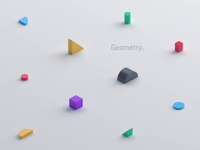 Endless geometric animation geometry minimal loop graphic design abstract colorful shape 3d render background motion design geometric 3d animation