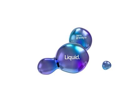 Liquid animation blob shape abstract graphic design background 3d render fluid liquid endless motion design loop 3d animation