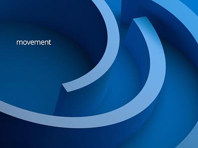 Endless motion geometric art 3d render minimalist blue minimal endless background graphic design abstract loop motion design 3d animation