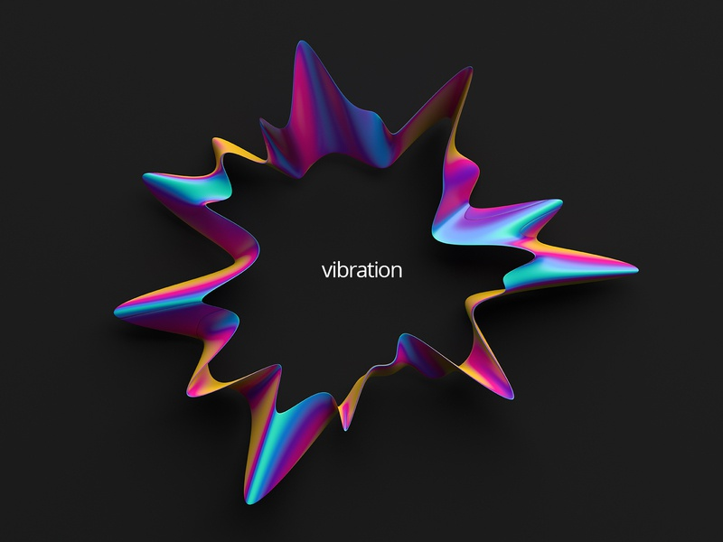 Vibration creative vibration wavy gradient modern 3d art graphic design colorful background shape abstract 3d render