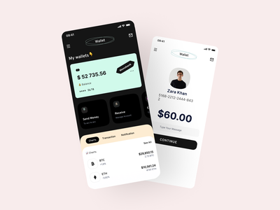 Hero Bank  — NFT Marketplace walletapp ui design wallet cryptocurrency productdesign crypto minimal dashboad design uidesign