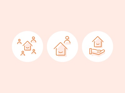 Crowdhouse Service Illustrations switzerland outline icon illustrations realestate