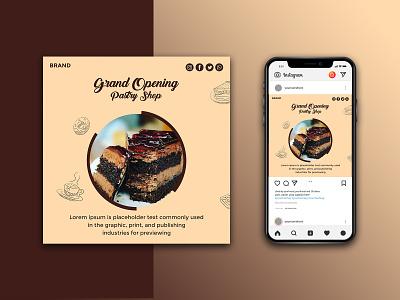 Bakary shop social media banner banner design social media banner graphic design