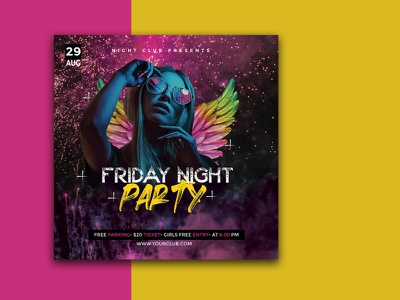 PARTY FLYER TEMPLATES print design event flyer party flyer graphic design