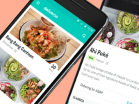Deliveroo Android App - New Look
