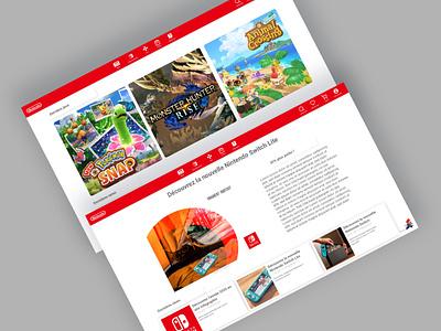 Nintendo E-shop web icon ux ui design