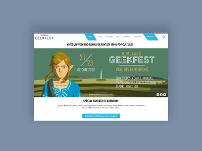Bordeaux Geekfest project link zelda design ui ux logo illustration web