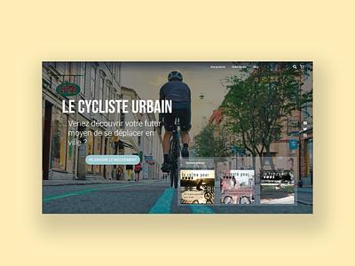 E-Shop e-bike landing page