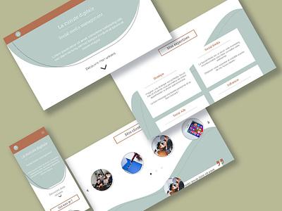 Social Media Management Website illustration branding design ui ux web